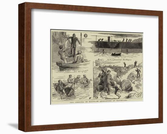 The Cholera in Egypt, in Quarantine at Marseilles--Framed Giclee Print