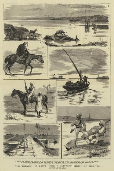 The Cholera in Egypt, with a Sanitary Cordon of Mounted Constabulary--Giclee Print