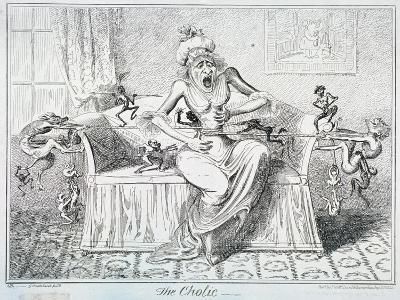 The Cholic, 1835-George Cruikshank-Giclee Print