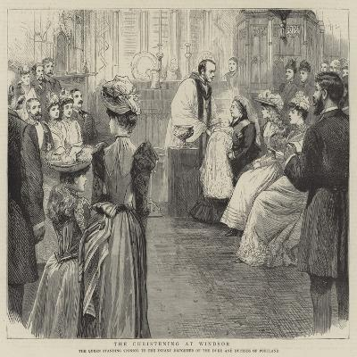 The Christening at Windsor--Giclee Print