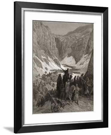The Christian Army in the Mountains of Judea, Illustration from 'Bibliotheque Des Croisades' by…-Gustave Doré-Framed Giclee Print