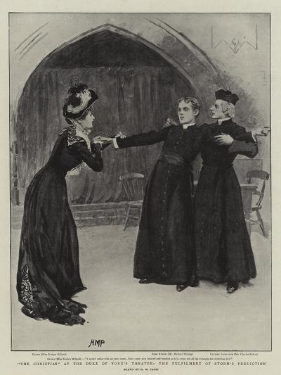 The Christian at the Duke of York's Theatre, the Fulfilment of Storm's Prediction-Henry Marriott Paget-Giclee Print