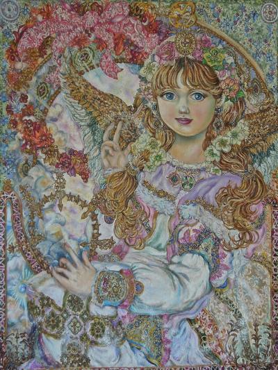 The Christmas Angel-Yumi Sugai-Giclee Print