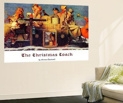 """""""The Christmas Coach"""", December 28,1935-Norman Rockwell-Wall Mural"""