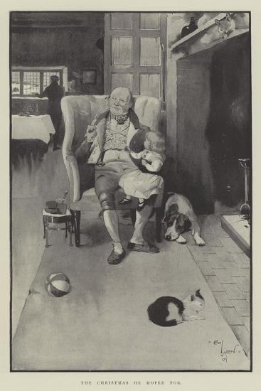The Christmas He Hoped For-Cecil Aldin-Giclee Print