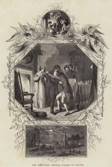 The Christmas Hearth--Giclee Print