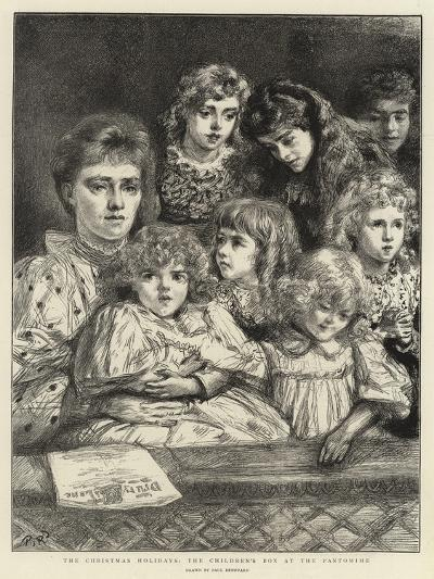 The Christmas Holidays, the Children's Box at Pantomime-Charles Paul Renouard-Giclee Print