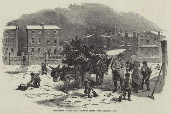 The Christmas Holly Cart-Myles Birket Foster-Giclee Print