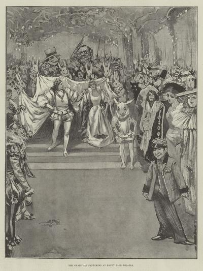 The Christmas Pantomime at Drury Lane Theatre--Giclee Print