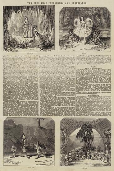The Christmas Pantomimes and Burlesques--Giclee Print