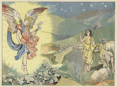 The Christmas Rose-John Shenton Eland-Giclee Print