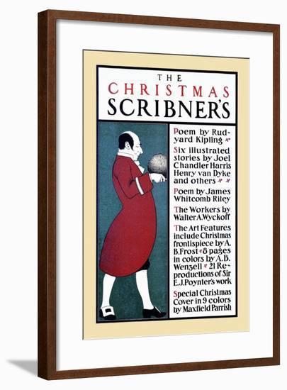 The Christmas Scribner'S-Edward Penfield-Framed Art Print