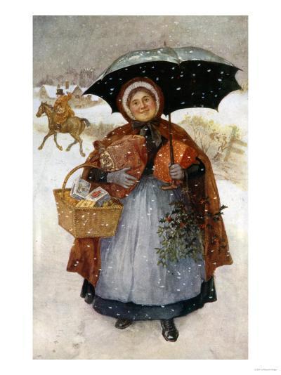 The Christmas Shopping--Giclee Print