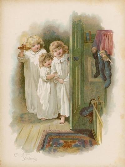 The Christmas Stockings--Giclee Print