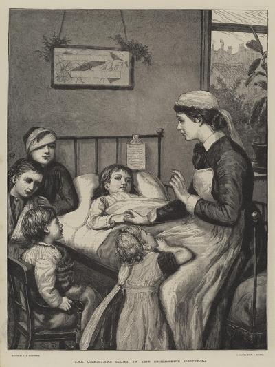 The Christmas Story in the Children's Hospital-Henry Robert Robertson-Giclee Print