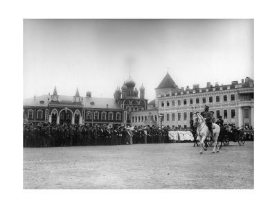 The Chudov Monastery in the Moscow Kremlin During the Visit of Tsar Nicholas II, 1912-K von Hahn-Giclee Print