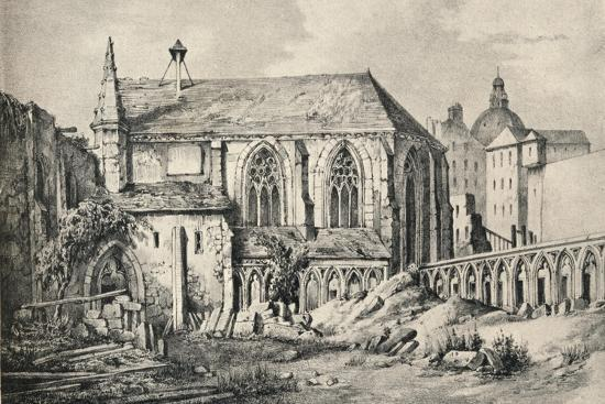 'The Church and the Cloister of the College of Cluny in 1824', 1915-Unknown-Giclee Print