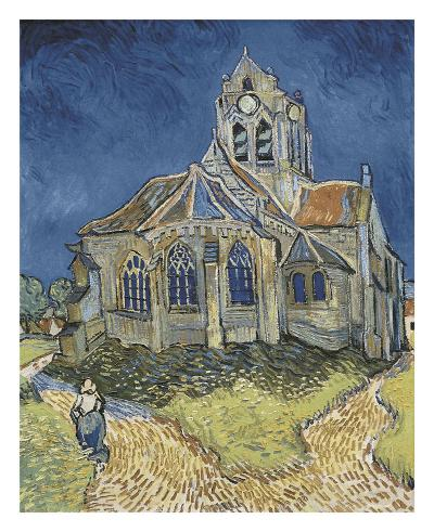 The Church at Auvers-Vincent van Gogh-Art Print