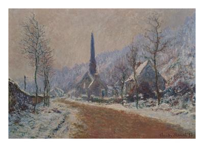 The Church at Jeufosse in Winter-Claude Monet-Giclee Print