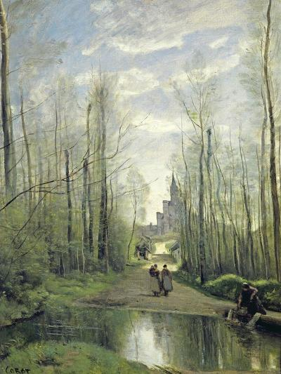 The Church at Marissel, 1866-Jean-Baptiste-Camille Corot-Giclee Print