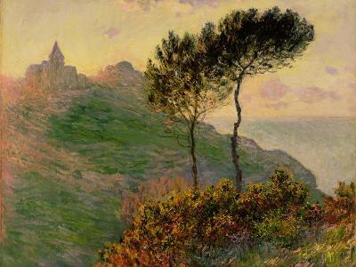 The Church at Varengeville, Against the Sunlight, 1882-Claude Monet-Giclee Print