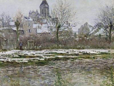 The Church at Vetheuil under Snow, 1878-79-Claude Monet-Giclee Print