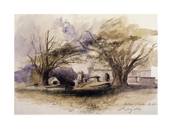 The Church, Bettws-Y-Coed, 1850, Bettws-Y-Coed, Gywnedd, Wales-John Gilbert-Giclee Print