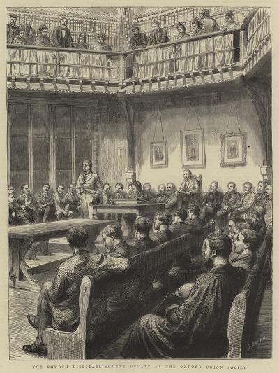 The Church Disestablishment Debate at the Oxford Union Society-Godefroy Durand-Giclee Print