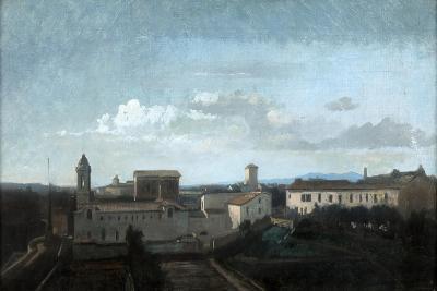 The Church of La Trinite Des Monts, Rome, 19th Century-Antoine Auguste Ernest Hebert-Giclee Print