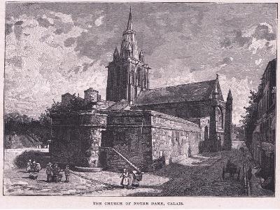 The Church of Notre Dame, Calais--Giclee Print
