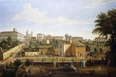 The Church of Ss. Marcellino E Pietro, from the Vigna Ciccolini-Gaspar van Wittel-Giclee Print
