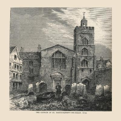 The Church of St, Bartholomew-The-Great, 1737--Giclee Print