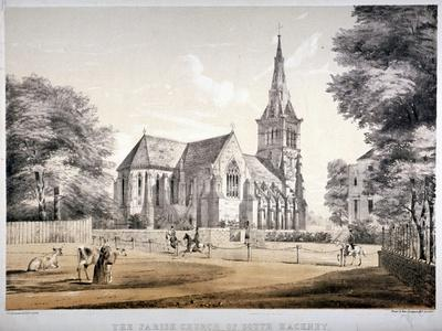 The Church of St John of Jerusalem, Hackney, London, C1850-CJ Greenwood-Giclee Print