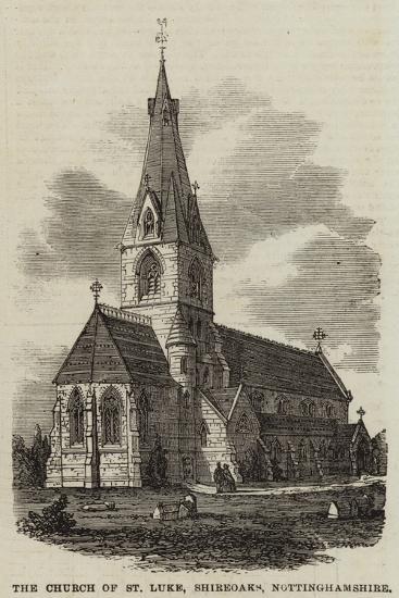 The Church of St Luke, Shireoaks, Nottinghamshire--Giclee Print