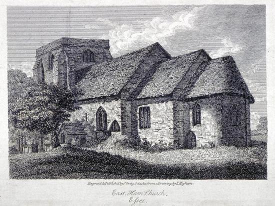 The Church of St Mary Magdalene, East Ham, Newham, London, 1812-John Greig-Giclee Print