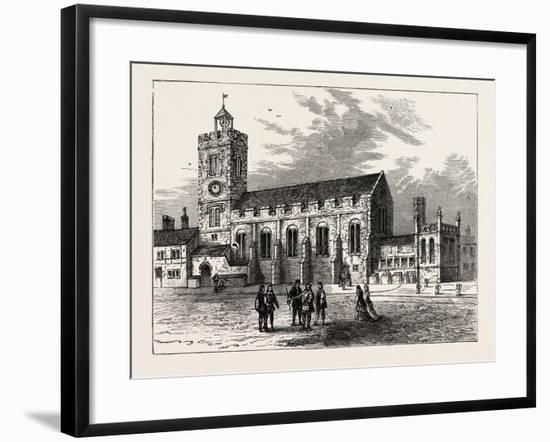 The Church of St. Michael Ad Bladum A.D. 1585 London--Framed Giclee Print
