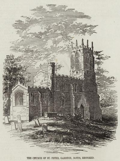 The Church of St Peter, Gamston, Nottinghamshire, Restored--Giclee Print