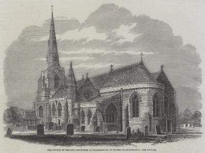 The Church of the Holy Sepulchre at Northampton, in Process of Restoration--Giclee Print