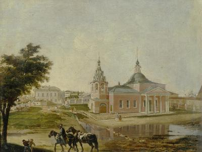 The Church of the Icon of Rzhev Holy Mother of God in Moscow, Mid of the 19th C--Giclee Print