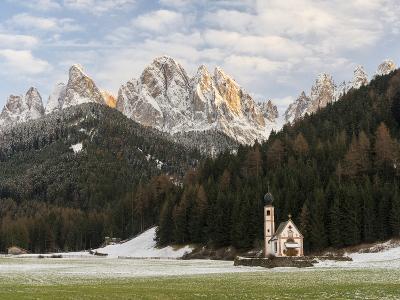 The Church St. John in Ranui, Geisler, Alto Adige, South Tyrol, Italy-Martin Zwick-Photographic Print