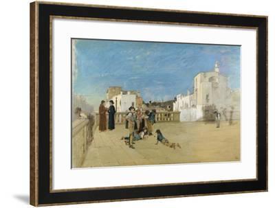 The Churchyard, 1875-Francesco Netti-Framed Giclee Print