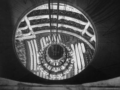 The Circular Tower in the Paris Opera Housing the Chandelier When It is Brought Up-Walter Sanders-Photographic Print