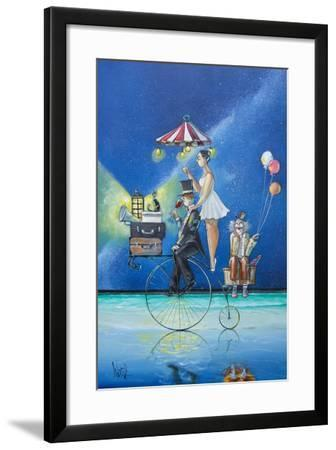 The Circus Is Coming to Town-Ronald West-Framed Art Print