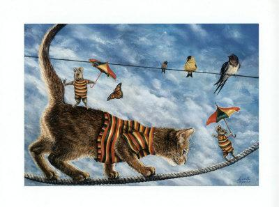 The Circus Performers-Jeanette Tr?panier-Art Print