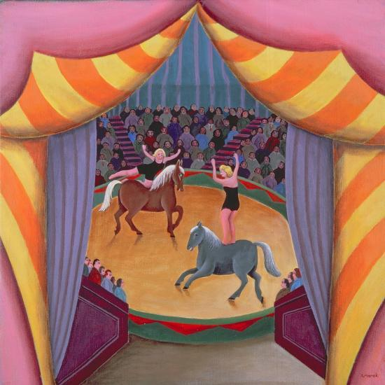 The Circus-Jerzy Marek-Giclee Print