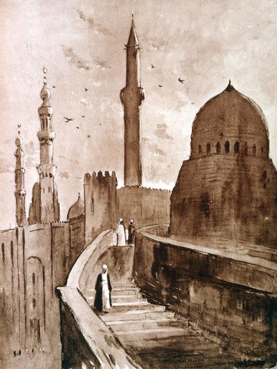 The Citadel at Sunrise, Cairo, Egypt, 1928-Louis Cabanes-Giclee Print