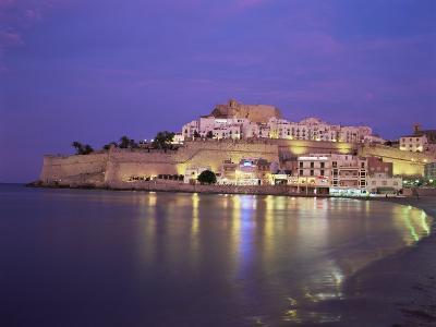 The Citadel by Night, Peniscola, Costa Del Azahar, Valencia, Spain, Mediterranean-Ruth Tomlinson-Photographic Print