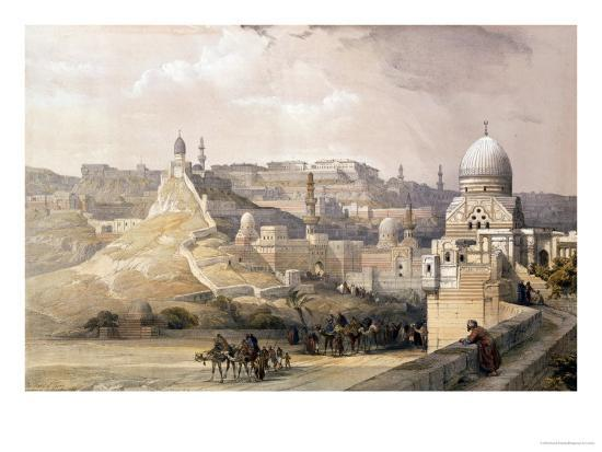 """The Citadel of Cairo, from """"Egypt and Nubia,"""" Vol.3-David Roberts-Giclee Print"""
