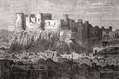 The Citadel of Herat and Qala Iktyaruddin, Herat, Afghanistan, from 'L'Univers Illustré', 1866--Giclee Print