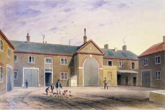 The City Green Yard, 1855-Thomas Hosmer Shepherd-Giclee Print